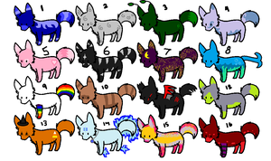 2 Point Adoptables OPEN (6 of 16 remaining!) by dragonfire73