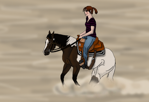 Jenna and Noble at Windfall Winter Rodeo by angry-horse-for-life