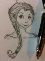 Elsa Sketch by IdaRahayu