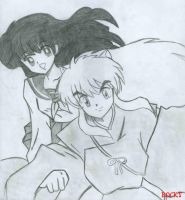 Inuyasha and Kagome by Puppy-of-Doom
