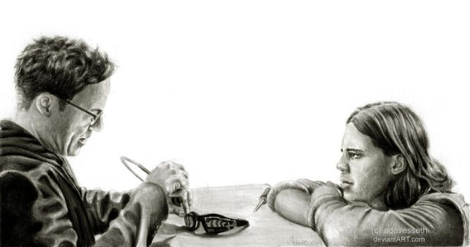 The Flash : Harry and Cisco by adavesseth
