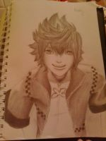 KH: Roxas (In Progress2) by KyteLeonhart
