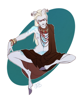 Tris the Shaman - Colored by Iseijin