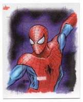 Spider-Man - Marvel 75th Anniversary SketchCard by Erik-Maell