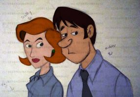 Mulder and Scully by TigerBlack62