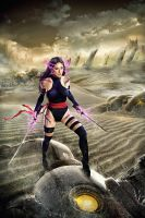 Psylocke in Genosha by libogant