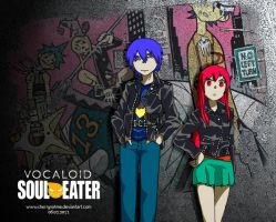 SoulEater Meme- Kaito and Miki by cherrynahme