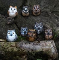 Repainted Owls by Daphneven