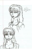 Alice face doodles by SirChristopher