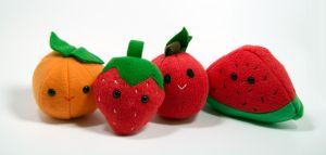 Cute Fruit Plush by SeamsLegit