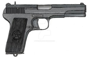 Tokarev TT-33- Post WWII by stopsigndrawer81