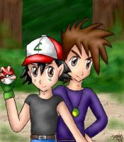 Ash and Gary by pdutogepi