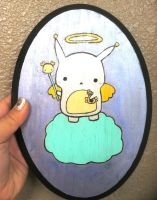 Bunny Angel Painting by PinkChocolate14