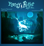 Expecto Patronum - Harry Potter Light Box by GreenYosh