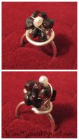 Silver, Garnet and Pearl Ring by WireMySoul