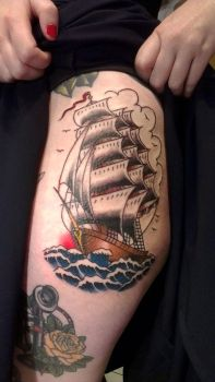Ship Tattoo by kittyelixir