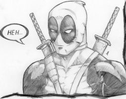 Smirking Deadpool by Atom303