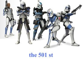 the clone 501 st by guy191184