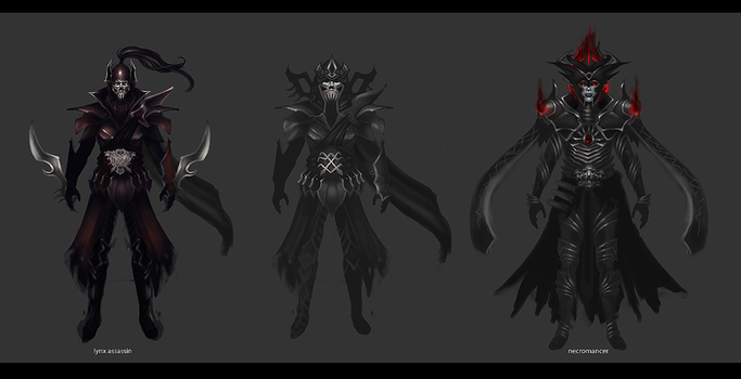 Fantasy Character Concepts by nechnechmo