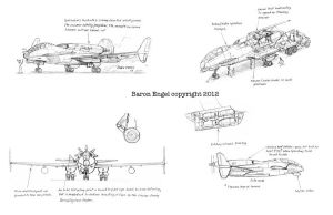 Concept design  bomber-attack aircraft 01 by Baron-Engel
