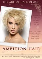 Ambition Hair flyer by 24charlie