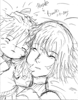 Hinata and Boruto-Sleeping with my mother by NelNel-Chan