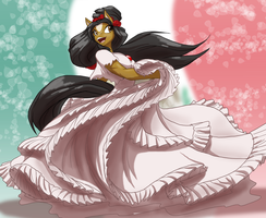 LS-CM, Crysalia's Mexican Dress by Toughset