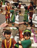 Toph and Zuko Painting Done! (still a WIP tho) by aachi-chan