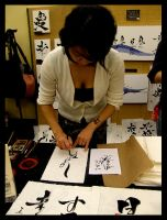 Japanese Calligraphy by Lilithia