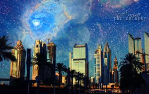 Galaxy of Sheikh Zayed road by amirajuli