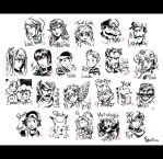 Super Smash Brothers Brush Art 2 by spacecoyote