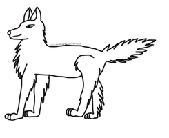 Wolf Lineart by cassiedoggy