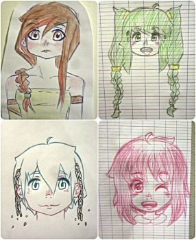 Little drawings made in class :') by mailinyan