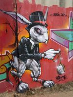 graffrabbit by elbearone