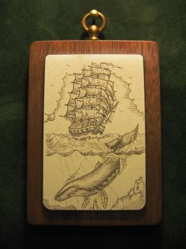 Whaling ship-scrimshaw by nosohoma