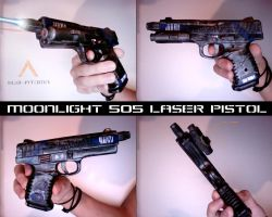 Moonlight 505 laser pistol - Sub-Atoma by Tha-Fire-Dude