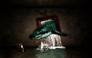 out of frame shark by devils666