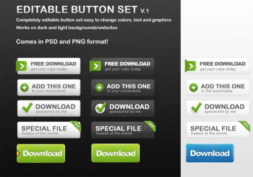 Free Button Set by NilsHuber