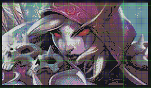 WoW TCG: Lady Sylavans Perler Bead (in process) by LadyJirachi