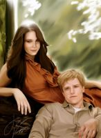 Katniss and Peeta by ArtisticJv2