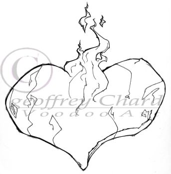 flaming heart tattoo by VooDooCharlie
