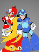 Megaman X and Zero by tanlisette