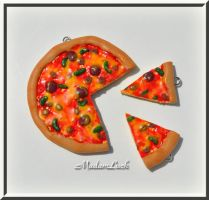 Pizza jewelry by MadamLuck