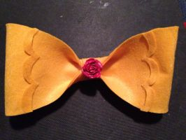 Beauty and the Beast Bow by Adriellovesart