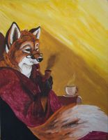 A Fox's Morning by JungleQueen17