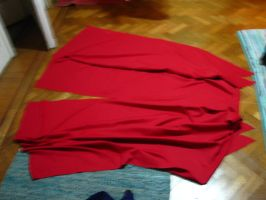 Nai's red overcoat make process by Die-Rose