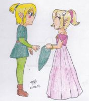 Childhood II- ZeLink by Niarahime
