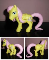 MLP ''Old Meets New'' Custom - Fluttershy by UniqueTreats