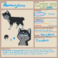 Warriors Cat Application-Morningshine by Karramon