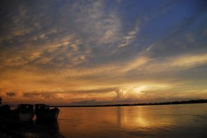Cambodia - Mekong Sunset 2 by sevenths